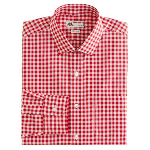 Thomas Mason® for J.Crew spread-collar dress shirt in gingham
