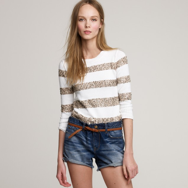 Spangled stripe sweater