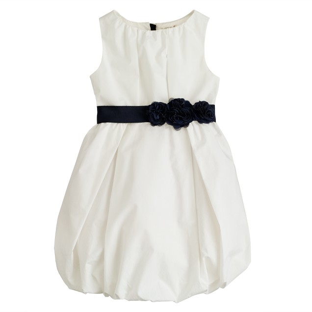 Girls' poplin bubble dress