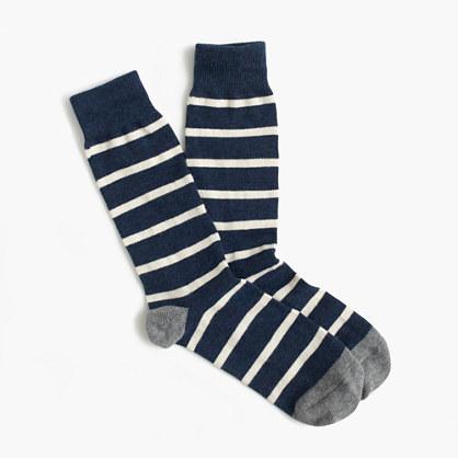 Naval-striped socks