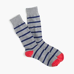 J. Crew Naval-striped socks