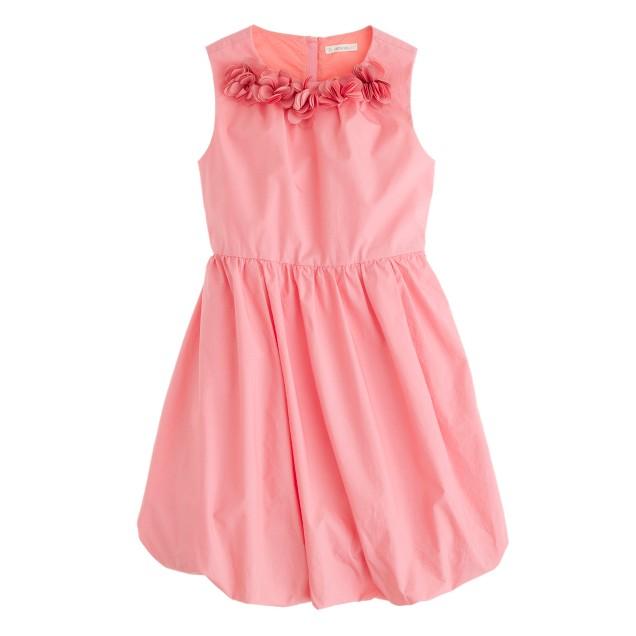 Girls' petal poplin dress