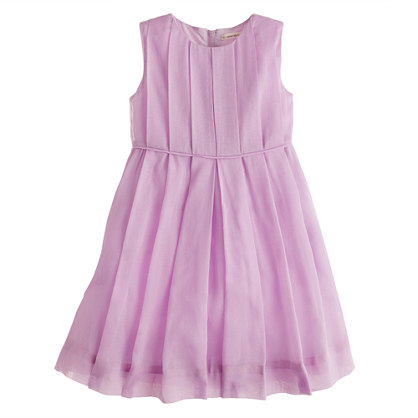 Girls' organdy pleated dress