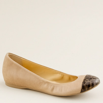 Cece leather and tortoise ballet flats