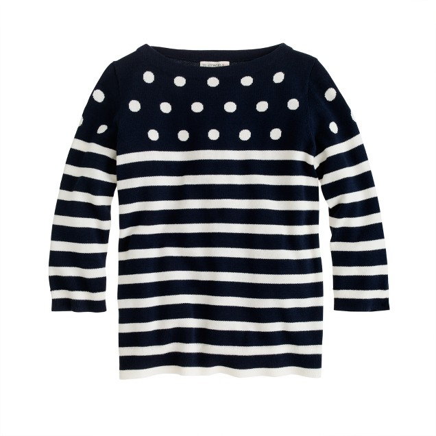 Girls' dots and stripes sweater