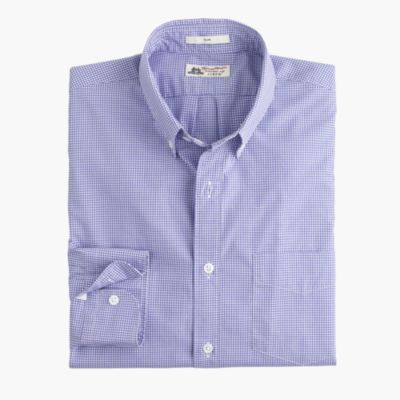 Slim Thomas Mason® for J.Crew shirt in baltic mini-gingham