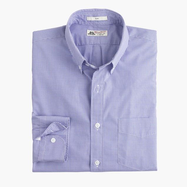 Slim Thomas Mason® for J.Crew shirt in baltic mini-gingham