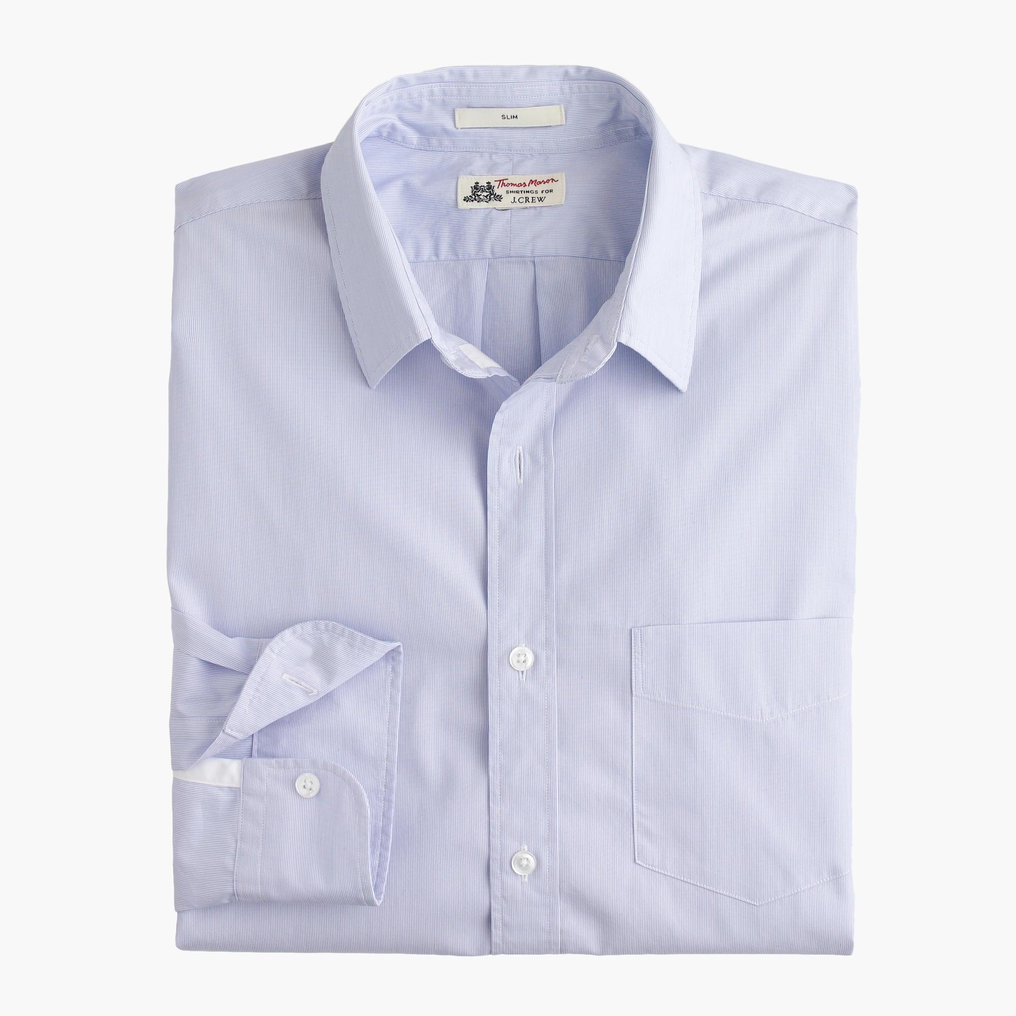 Slim thomas mason for j crew shirt in peri stripe men 39 s for Thomas mason dress shirts
