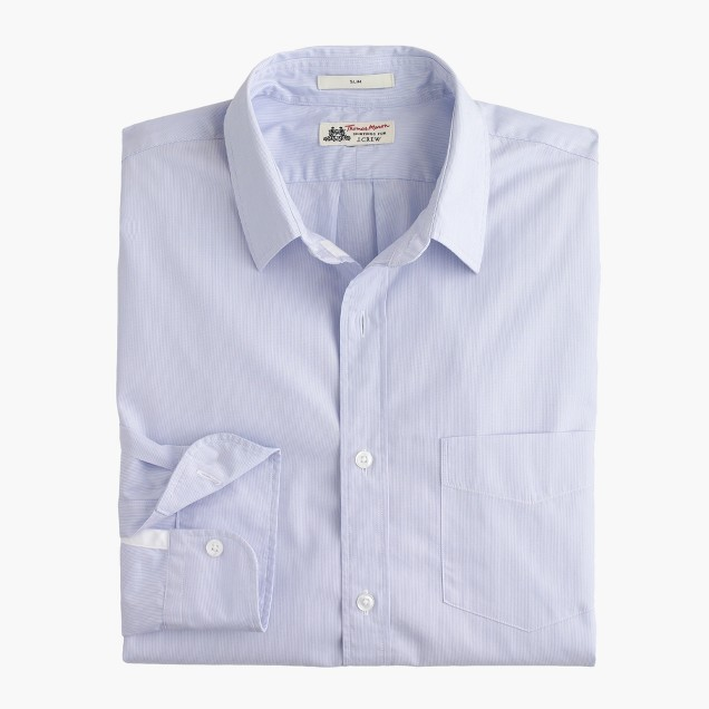 Slim washed Thomas Mason® for J.Crew shirt in stripe