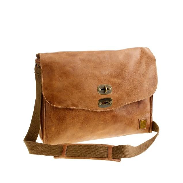 Belstaff® leather messenger bag