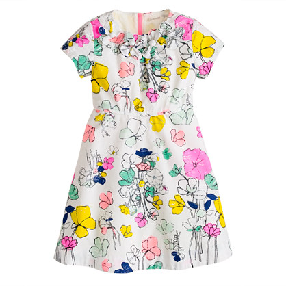 Girls' floating floral dress