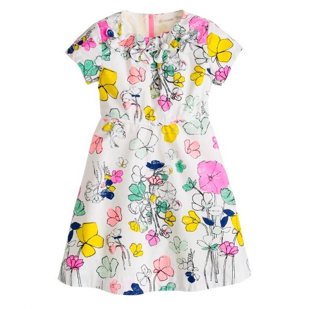 Girls' floating floral dress