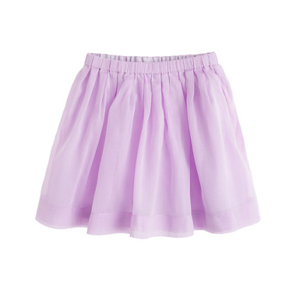 Girls' pull-on pleated skirt