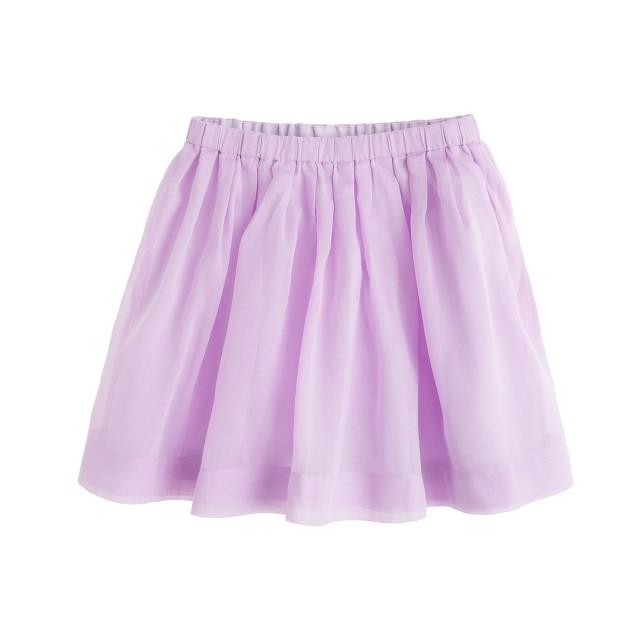 Girls' pull-on pleated skirt