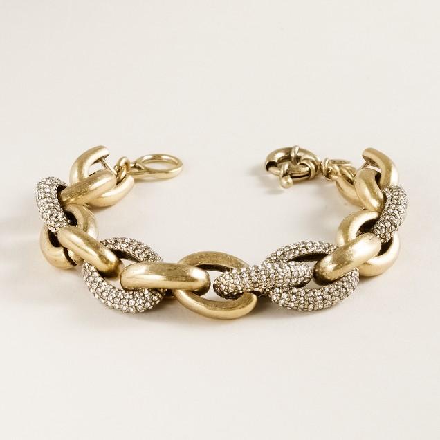 Mini pavé-link bracelet