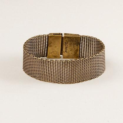Woven mesh bracelet