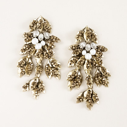 Mulberry leaf earrings
