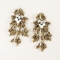 Mulberry leaf earrings