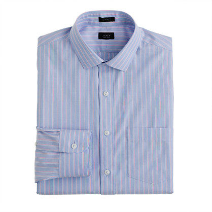Slim non-iron end-on-end dress shirt in classic pink
