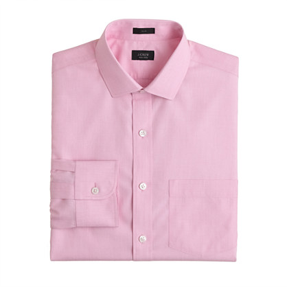 Slim non-iron spread-collar dress shirt