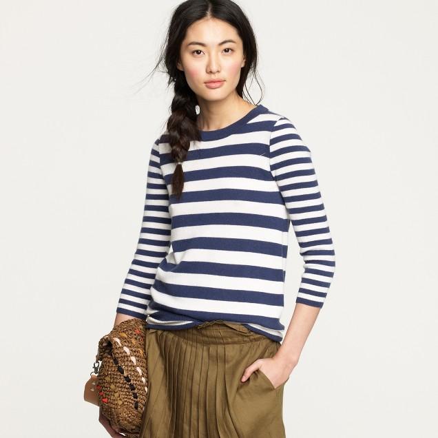 Cashmere mixed stripe sweater