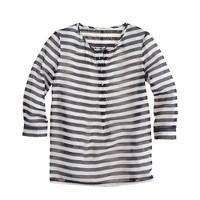Girls' stripe organdy tunic
