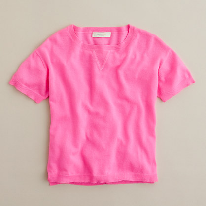 Girls' neon cashmere popover