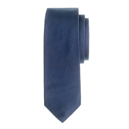 Extra-long English silk repp tie