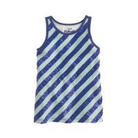 Girls' sequin-stripe tank
