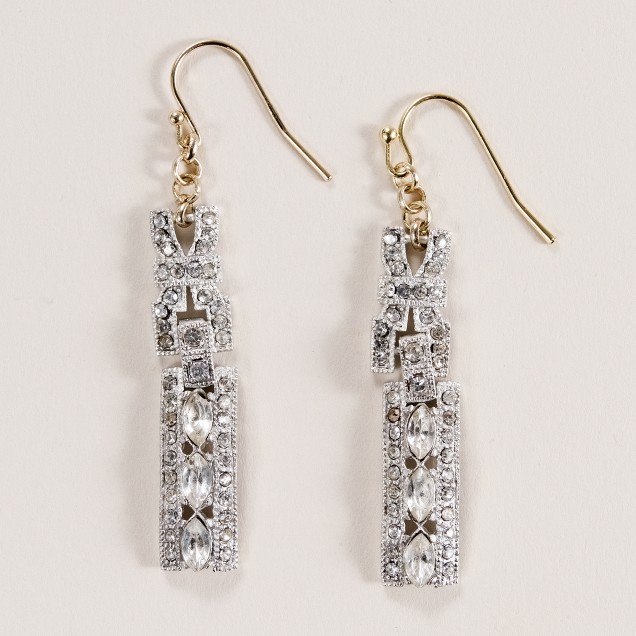Lulu Frost for J.Crew modern deco long drop earrings