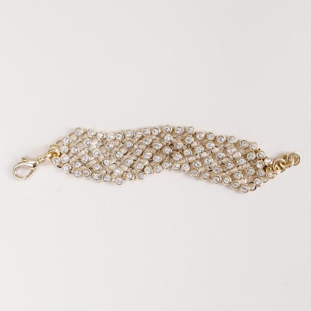 Lulu Frost for J.Crew modern deco blizzard bracelet