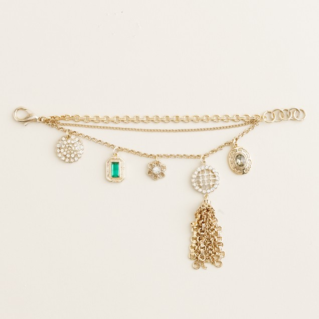 Lulu Frost for J.Crew heirloom charm bracelet
