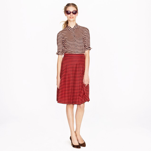 Voile skirt in stripe