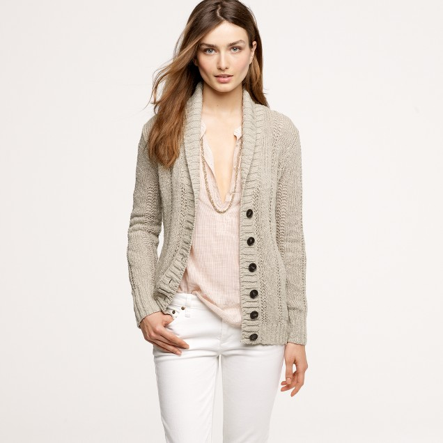 Pointelle beach cardigan