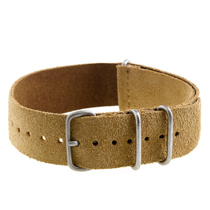 Suede watch strap