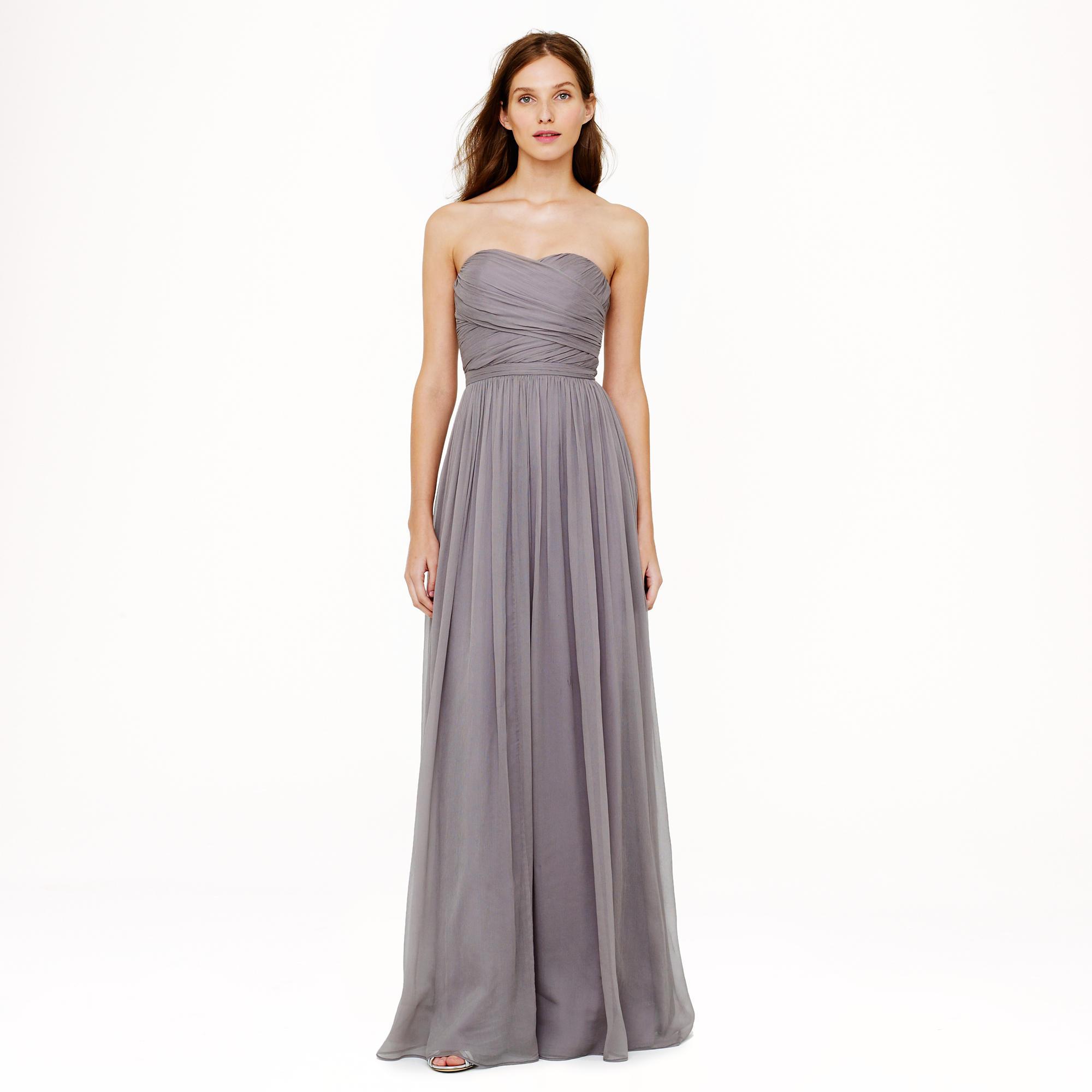 Arabelle long dress in silk chiffon : Wedding sizes 16 to 20 | J.Crew