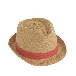 Kids' striped band trilby hat