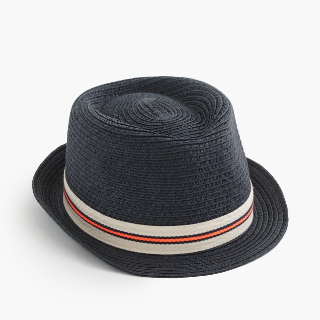 Kids' striped band trilby hat