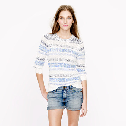 Twisted stripe sweater