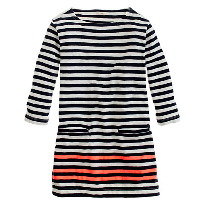 Girls' stripe pocket tunic
