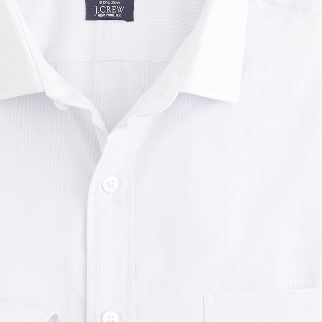 Spread-collar regular-fit dress shirt in vintage stripe