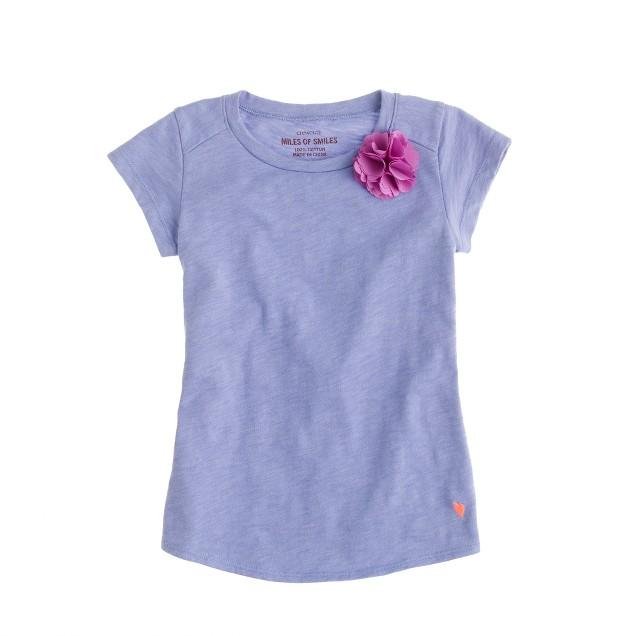 Girls' supersoft carnation T-shirt