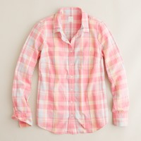 Perfect shirt in pink plaid