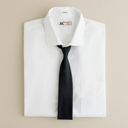 Thomas Mason® for J.Crew spread-collar dress shirt in white