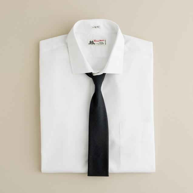 Thomas Mason® for J.Crew spread-collar dress shirt in white