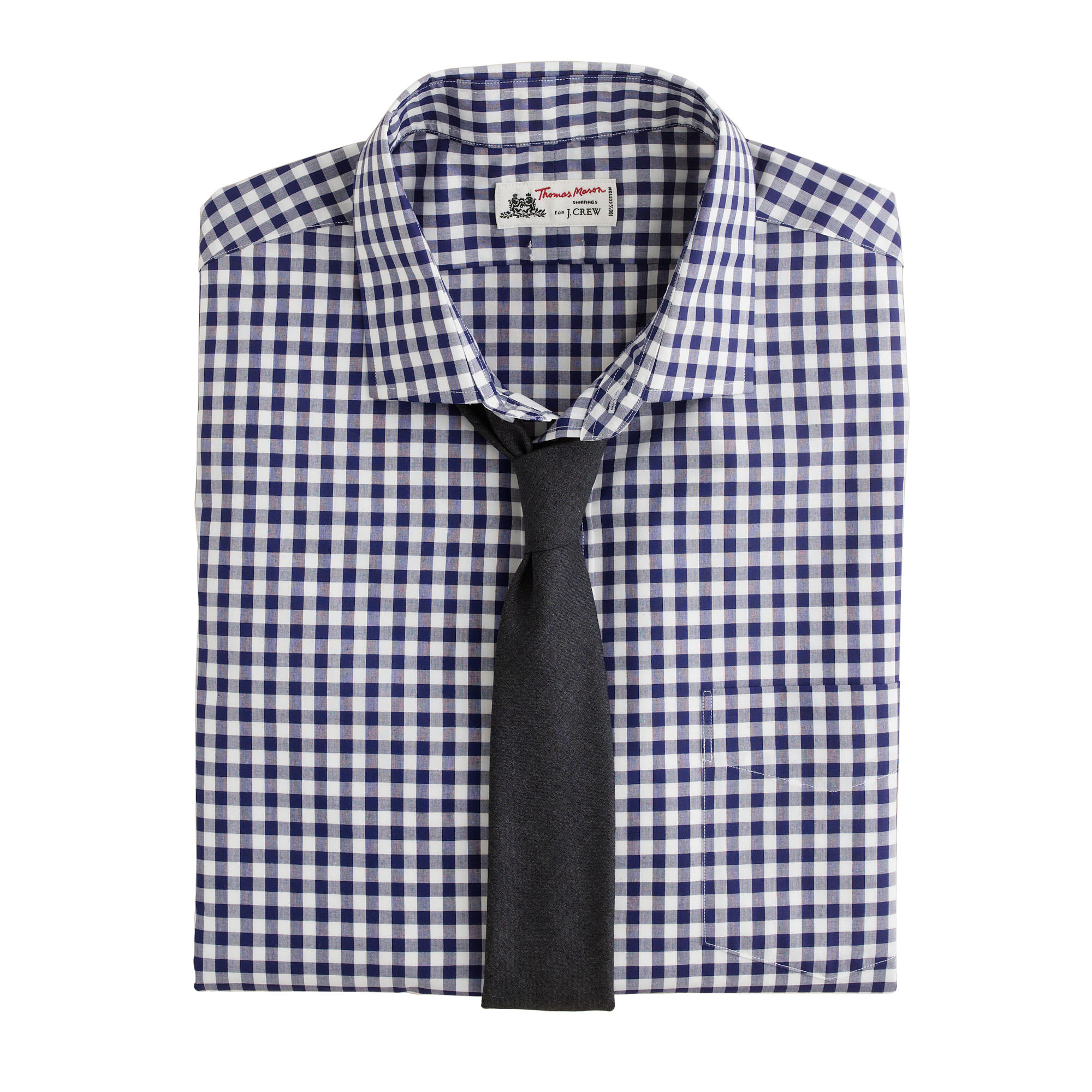 Thomas Mason For J Crew Spread Collar Dress Shirt In Dark