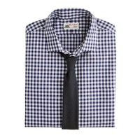 Thomas Mason® for J.Crew spread-collar dress shirt in dark navy gingham