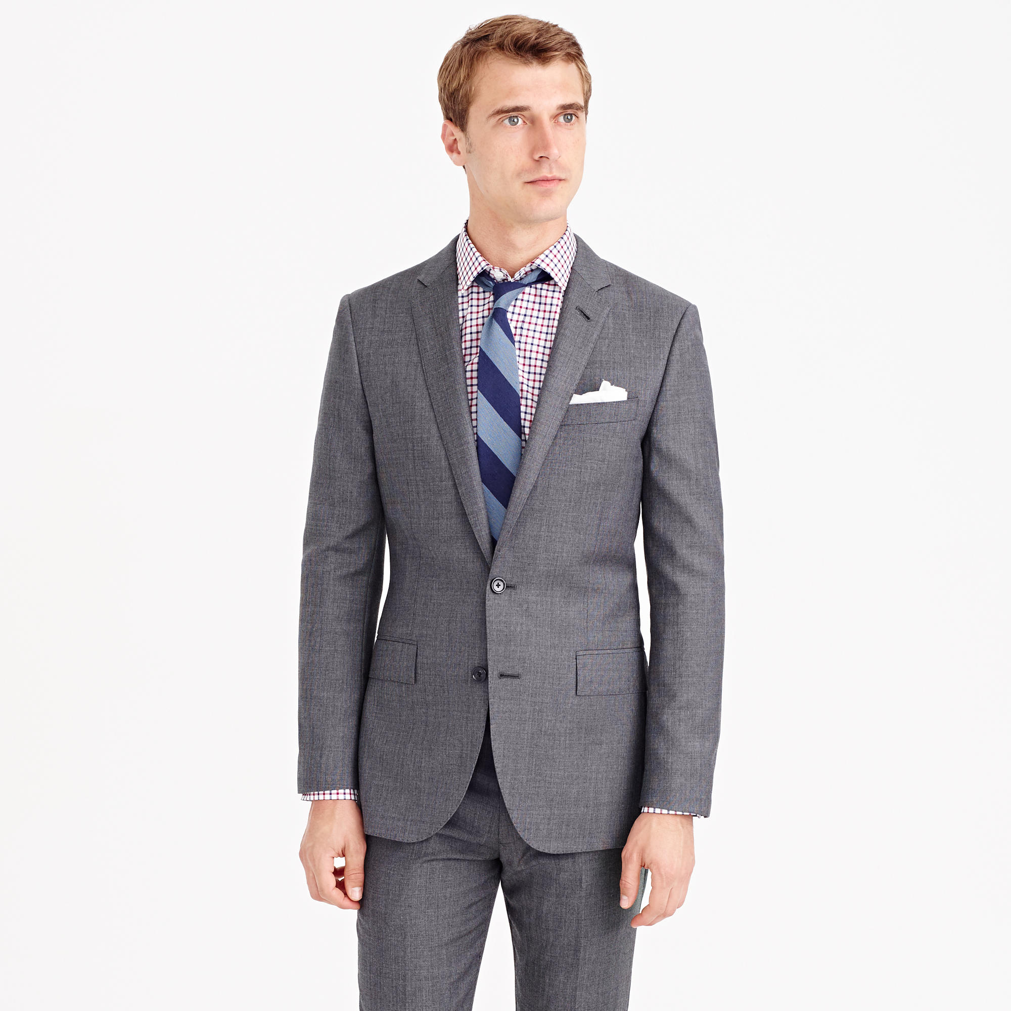 Wool Man Sute Wedding: Ludlow Suit Jacket With Center Vent In Italian Worsted