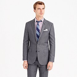 Ludlow suit jacket with center vent in Italian worsted wool