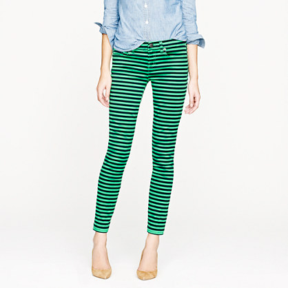 Toothpick jean in stripe